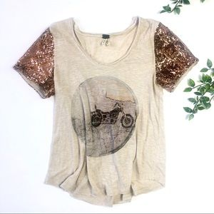 Free People | Fast Cars Tee Motorcycle Graphic Tee